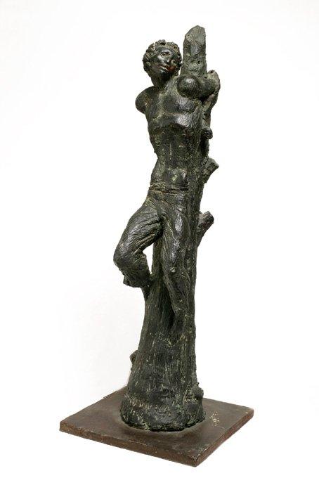 """Ricordo della prigionia """"Borovnica"""", terracotta patinata"""
